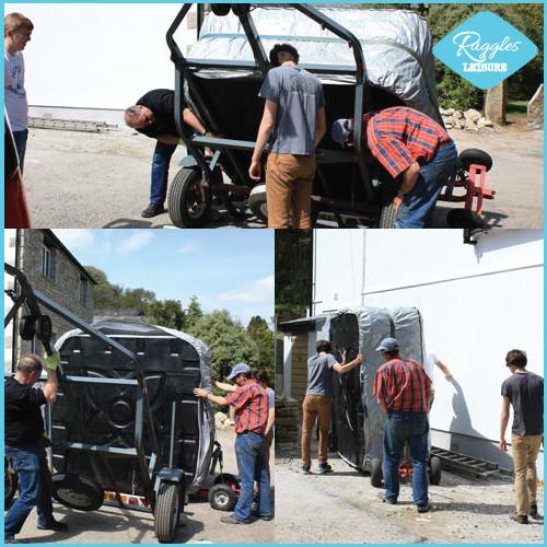 Taking trailer off car