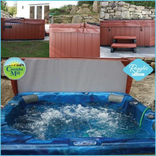 installed hot tub